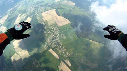 Прыжок с парашютом для настоящих экстремалов!