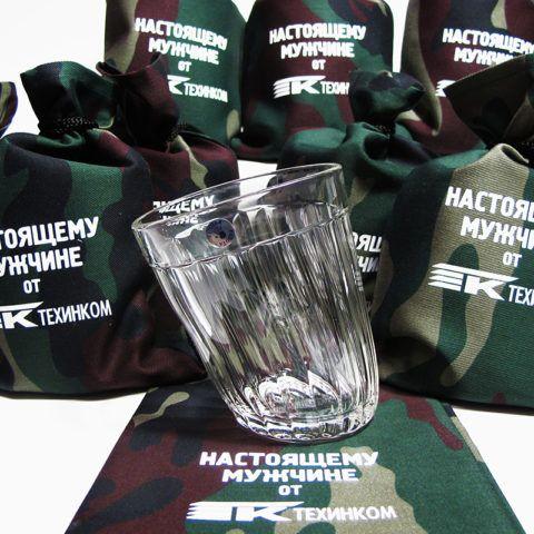 «Пьяный стакан» в камуфляжной упаковке в подарок на 23 февраля.