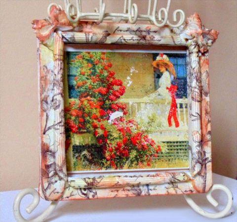 Рамка из макарон для фотографии