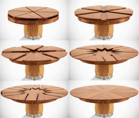 Раздвижной круглый стол