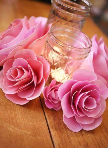Розы из фольги