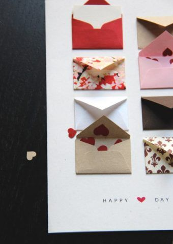 Сердечки в конверте