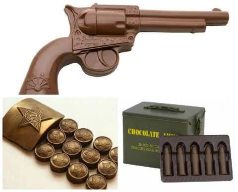 Шоколадный подарок на день Защитника Отечества.