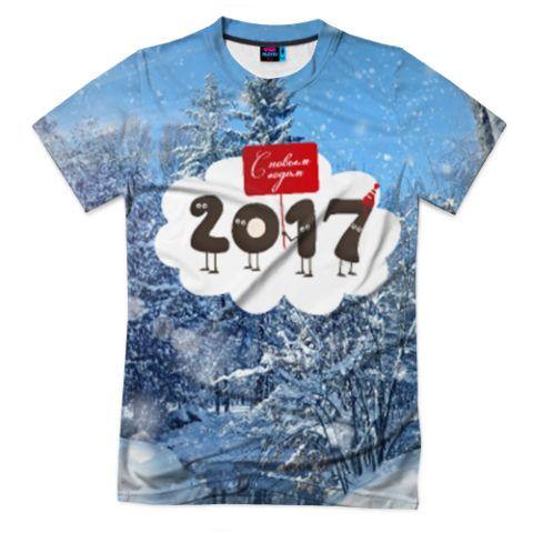 Стильная новогодняя футболка.