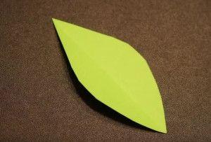Выпрямляем листок