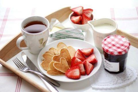 Завтрак для дорогого человека.