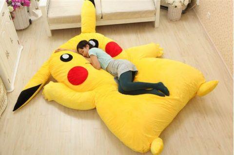 Бескаркасная кровать в подарок «Желтый заяц».