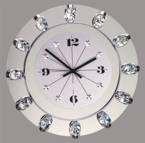 Часы настенные с горным хрусталем