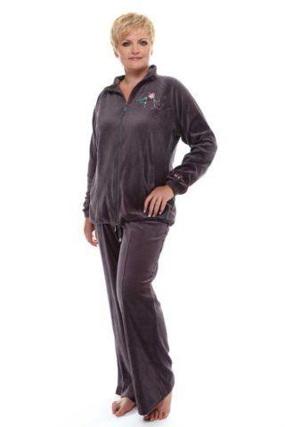 Cпортивный костюм для бабушки : скромный, неяркий, мягкий, уютный.