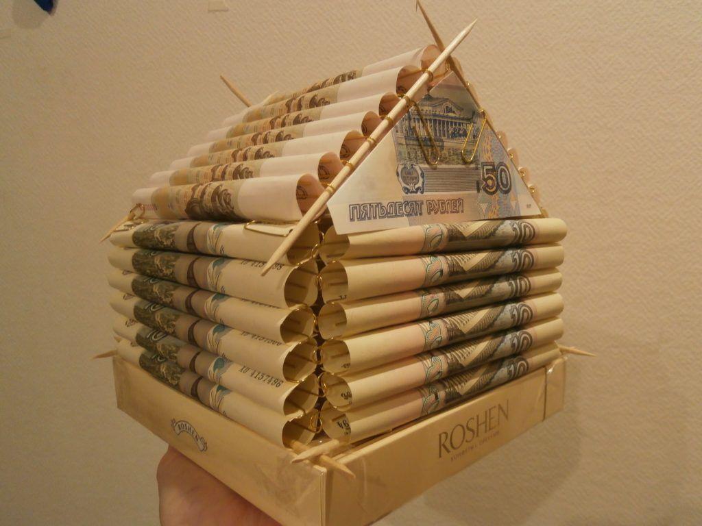 Оригинальные идеи подарков из денег 54