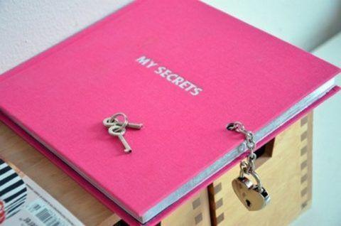 Или вот такая книга секретов с замочком