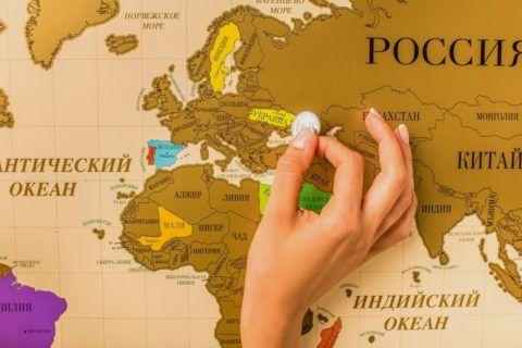 Карта, где можно отмечать страны, в которых побывал
