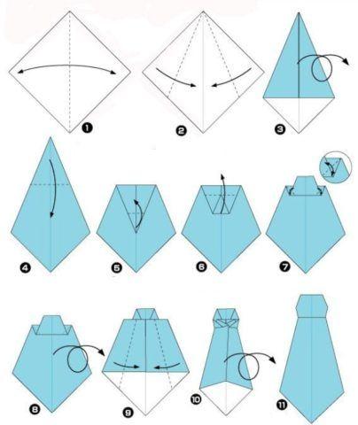 Либо же сложить его в стиле оригами.