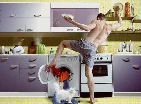 Муж в хозяйстве