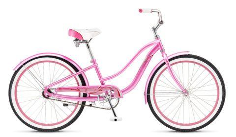 Нежный и изящный велосипед для девочки.