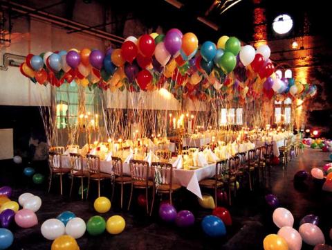 Оформление зала для вечеринки