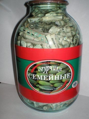 Оригинальные подарки в банке своими руками