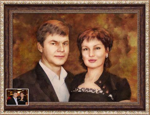 Подарок родителям на 30 лет свадьбы, семейный портрет.
