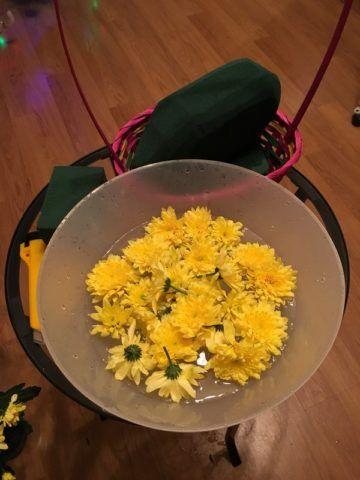Подготовка цветов