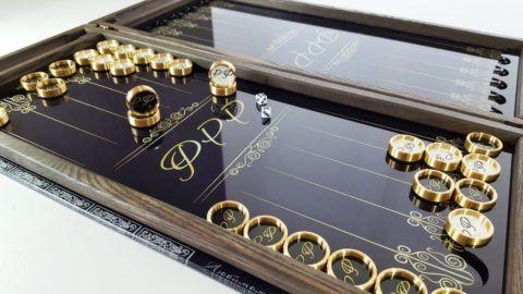 Презент, сувенирный комплект игры в нарды.