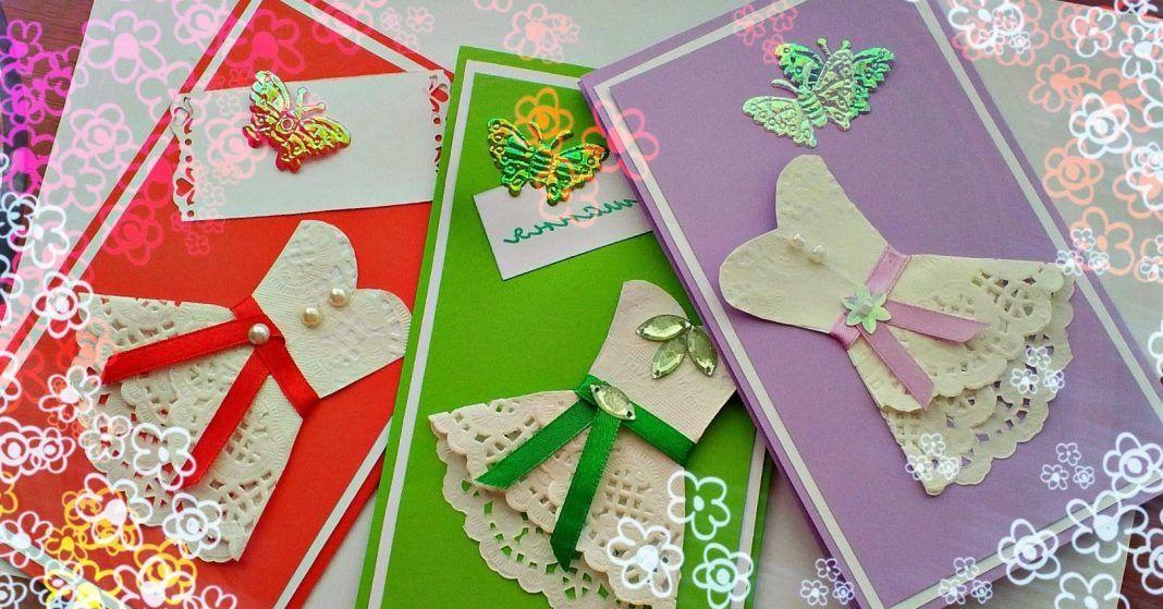 Как делать открытки на день рождения своими руками из белой бумаги