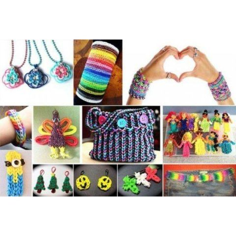 Сколько красивых мелочей можно сделать из разноцветных резиночек.