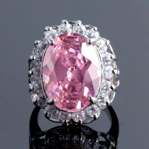 Украшение с розовым камнем