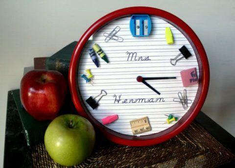 Вариант оформления настенных часов