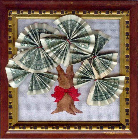 Вышивка с деньгами