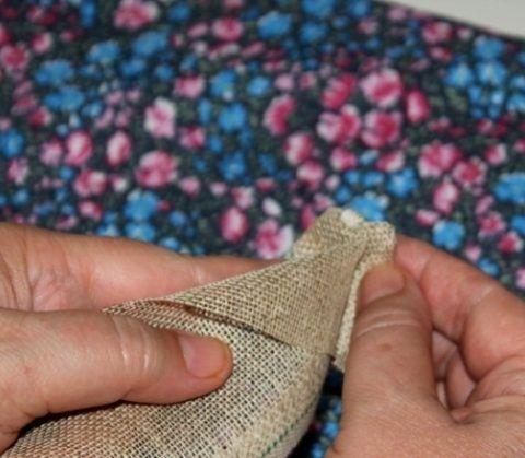 Закрепляем ткань
