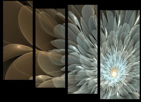 Жемчужная модульная картина