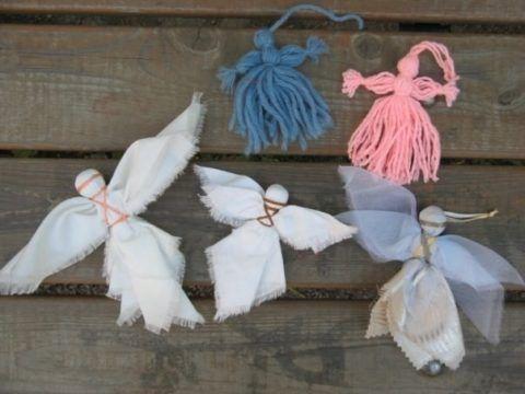Ангелочки, варианты изготовления.