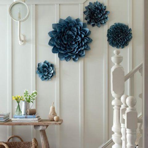 Бумажные цветы для интерьера