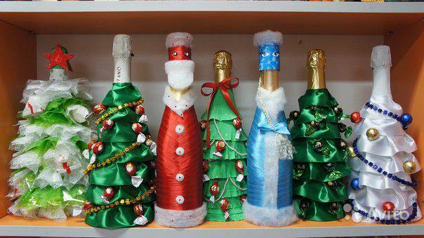 Поделка шампанского на новый год