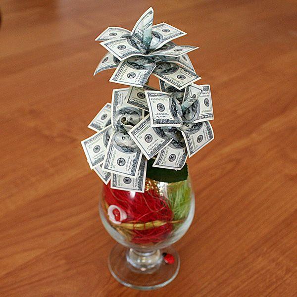 Оригинальный подарок сделанный своими руками из денег