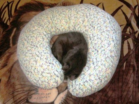 Готовая подушка без наволочки.