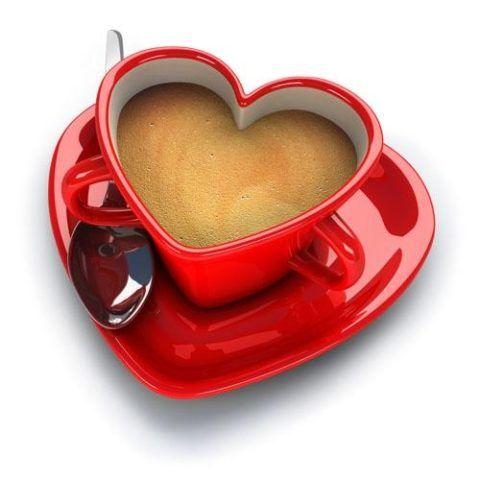 Кофе в чашке «сердечко»