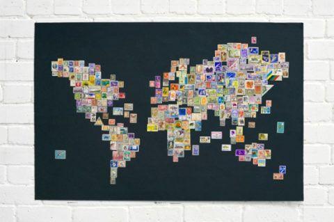 Коллаж из карт мира