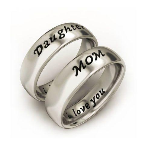 Кольца «дочь» и «мама»