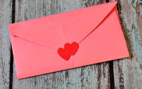 Милый конверт для кольца