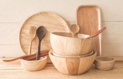 Набор деревянной посуды