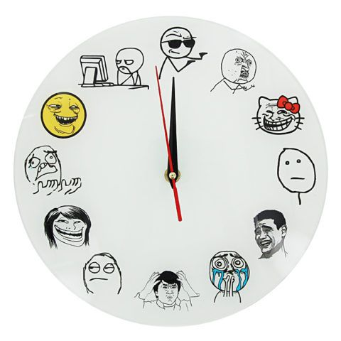 Настенные часы с мемами – веселый презент