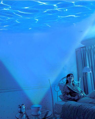 Ночник с проекцией морских волн