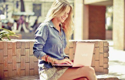 Ноутбук розового цвета