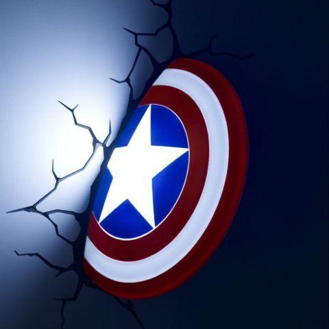 Оригинальный светильник – щит супермена