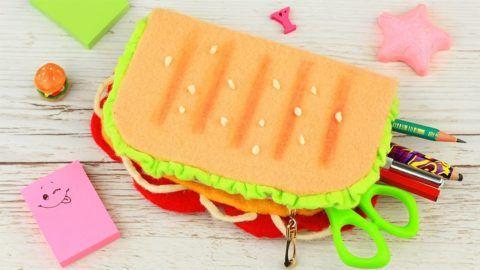 Пенал в виде сандвича – оригинальное решение