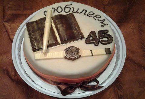 45 лет, торт.
