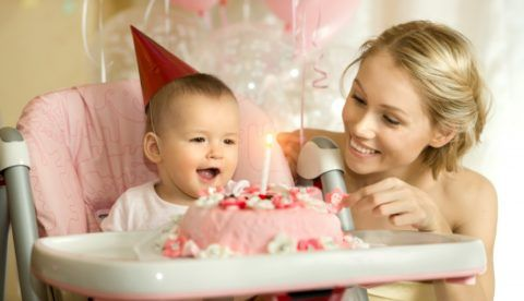 Поздравляем малыша с первым днем рождения