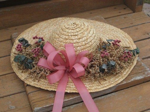 Как украсить соломенную шляпу своими руками