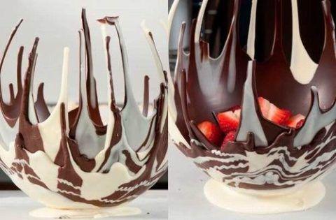 Ваза из шоколада